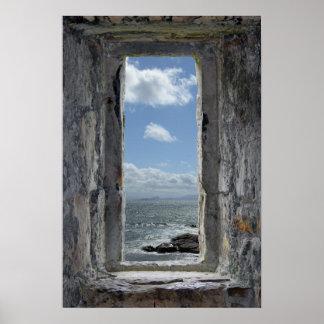 Pôster Ilusão da janela do castelo com opinião do