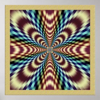 Poster Ilusão óptica de vibração dramática