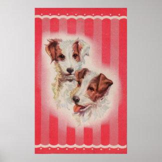 Pôster Ilustração BONITO dos terrier de Jack Russell