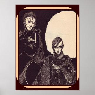Poster Ilustração de Faust por Goethe (1925) 12 x 16