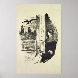 Poster Ilustração de Manet | para 'o Raven