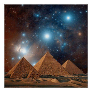 Poster imaculado das pirâmides da coleção das