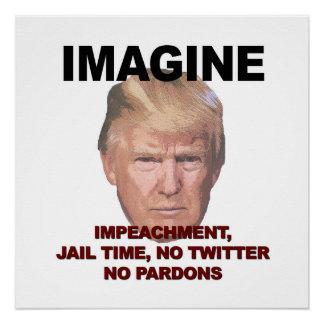 Pôster Imagine a destituição, cadeia, nenhum Twitter,