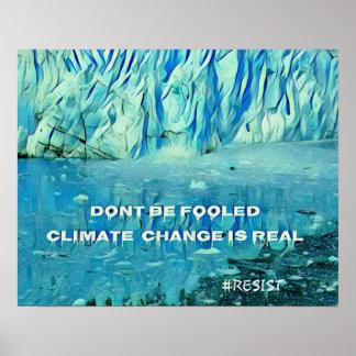 Poster Impacto ambiental do aquecimento global em