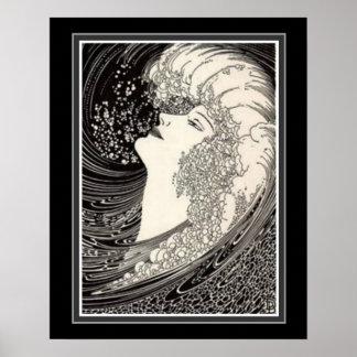 """Pôster """"Impressão 16 x 20 Ca 1937 do art deco da voz da"""