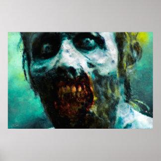 Poster/impressão abstratos do zombi pôster