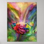 Poster/impressão cor-de-rosa das belas artes da cu
