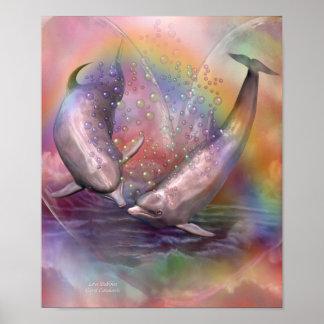 Poster/impressão da arte das bolhas do amor