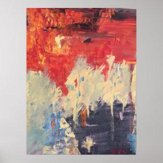 """Poster """"Incêndio violento"""" por Sheri Obai"""