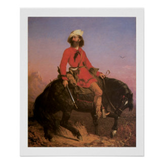 Poster indiano ocidental velho do impressão da art