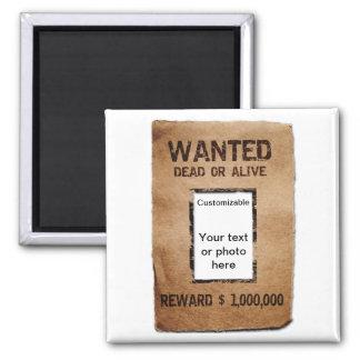 Poster inoperante ou vivo querido ímã quadrado