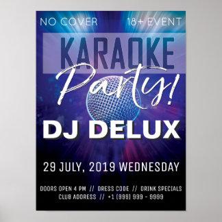 Pôster Insecto do clube do partido | DJ | do karaoke