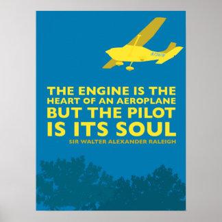 Poster inspirado do avião & do vôo pôster