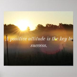 Poster inspirado do nascer do sol da atitude
