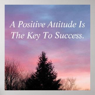 Poster inspirado do poster da atitude positiva