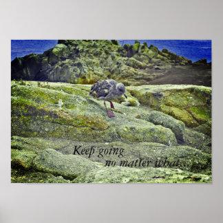 Poster inspirado: Keep que vai não importa o que.
