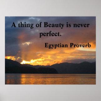 Poster inspirador com provérbio egípcio