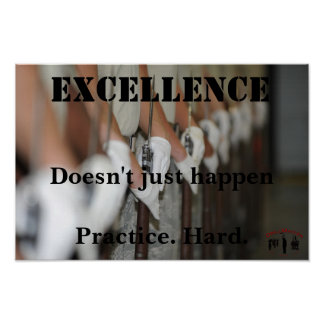 Poster inspirador da excelência