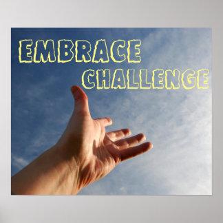 Poster inspirador do desafio do abraço