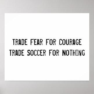 Poster inspirador do futebol pôster