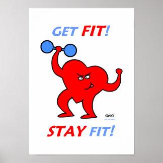 Poster inspirador do Gym dos desenhos animados da
