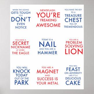 Poster inspirador para inspirar o schmazingness