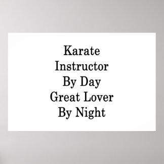 Pôster Instrutor do karaté pelo grande amante do dia em a