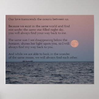Poster interurbano da poesia do amor da relação
