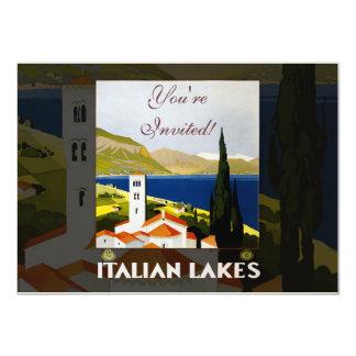 Poster italiano das viagens vintage dos lagos