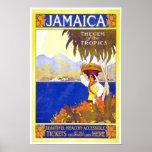Poster Jamaica das viagens vintage