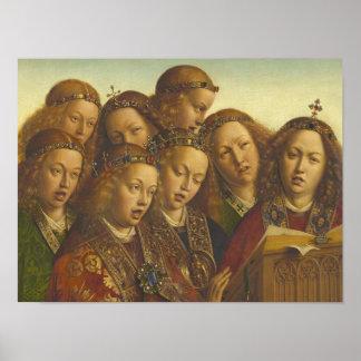 Pôster Jan van Eyck que canta a anjos Ghent CC0062