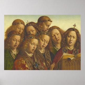 Pôster Jan van Eyck que canta a anjos Ghent CC0184