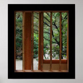 Pôster Janela de bambu