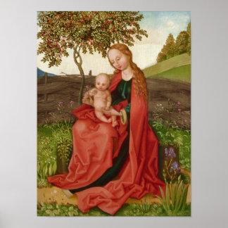 Poster Jardim do Virgin e da criança de Martin Schongauer