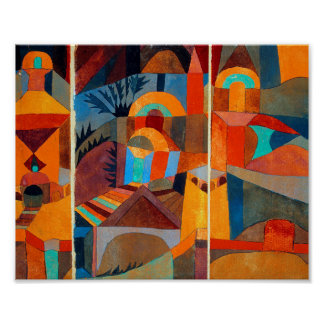 Poster Jardins do templo: Paul Klee 1920