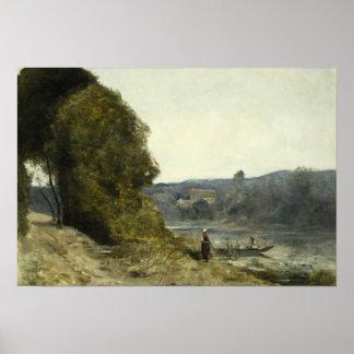 Poster Jean-Baptiste-Camilo Corot - a partida