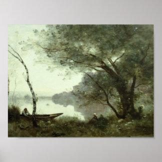 Poster Jean-Baptiste-Camilo Corot - barqueiro