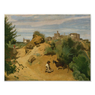 Pôster Jean-Baptiste-Camilo Corot - Genzano