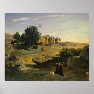 Poster Jean-Baptiste-Camilo Corot - Hagar