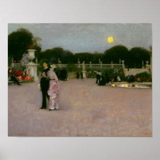 Pôster John Singer Sargent - nos jardins de Luxembourg