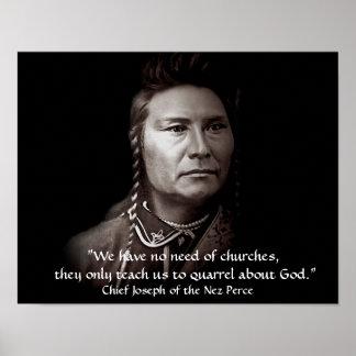 Pôster Joseph principal, a sabedoria indiana americana de