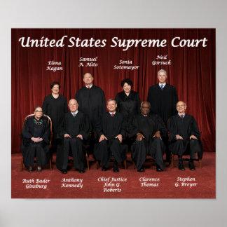 Poster Juizes do Tribunal Supremos dos Estados Unidos