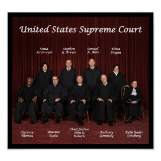 Pôster Juizes do Tribunal Supremos dos Estados Unidos