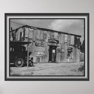 Poster junção de Juke do delta dos anos 30