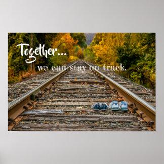 Pôster Junto nós podemos permanecer na trilha