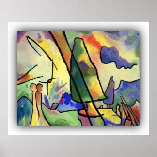 Pôster Kandinsky inspirou a pintura da arte abstracta no