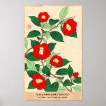 Poster Kawarazaki Shodo Calander floral de flores de
