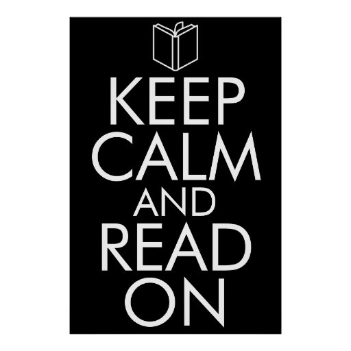 POSTER KEEP CALM AND READ ON