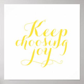 Poster - Keep que escolhe a alegria