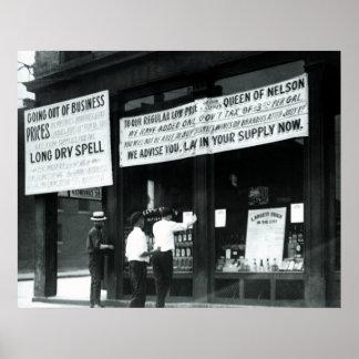 PÔSTER KENTUCKY 1920 VAI SECO - PROIBIÇÃO